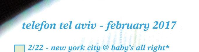 Telefon Tel Aviv announces Feb / March North American tour dates In Support of Fahrenheit Fair Enough Reissue