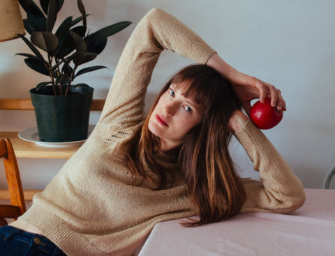 "Annie Hart of Au Revoir Simone shares new single / video ""Hard To Be Still"" via VOGUE"